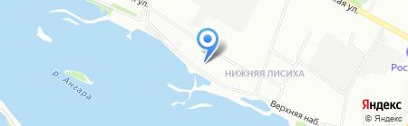 Фунтик на карте Иркутска