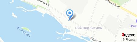 Барсик на карте Иркутска