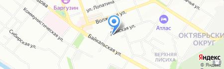 Электрон-сервис на карте Иркутска