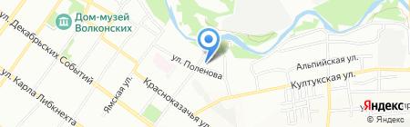 Байкалика на карте Иркутска