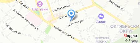 Триада на карте Иркутска