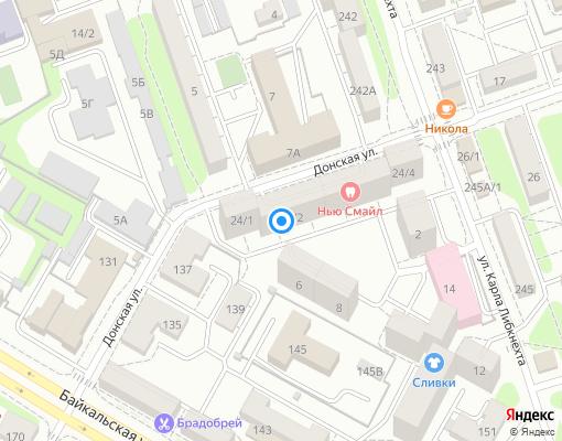 Управляющая компания «Иркутсклесстрой» на карте Иркутска