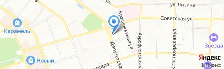 Бретель на карте Иркутска