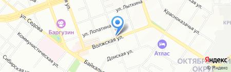 Волжский на карте Иркутска