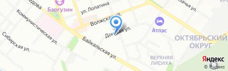 Визард на карте Иркутска