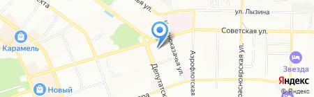 Анастасия на карте Иркутска