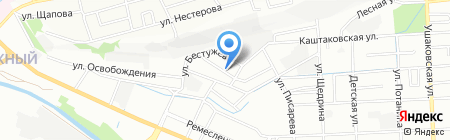 Дедал на карте Иркутска