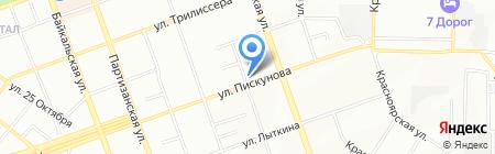 Шарлотка на карте Иркутска