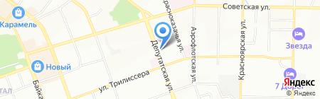 Сеть магазинов на карте Иркутска