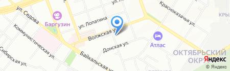 Мерлен на карте Иркутска