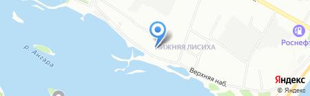Волна Байкала на карте Иркутска