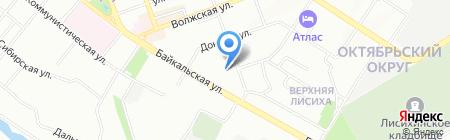 Сливки на карте Иркутска