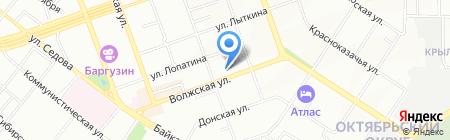 Тетрадон на карте Иркутска