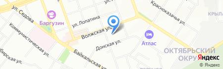 Медсанчасть №2 на карте Иркутска