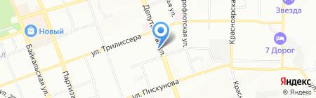 Бигуди на карте Иркутска