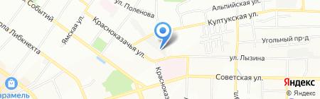 АКР на карте Иркутска