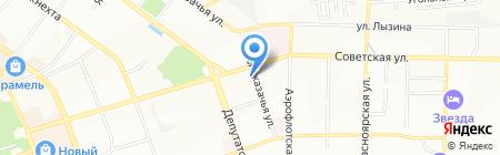 УРС на карте Иркутска