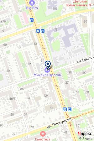 БАНК КИТ ФИНАНС на карте Иркутска