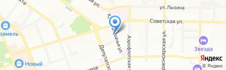 А38 на карте Иркутска
