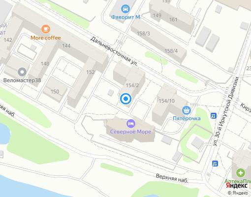 Товарищество собственников жилья «Астория» на карте Иркутска