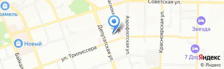 Детский сад №72 на карте Иркутска