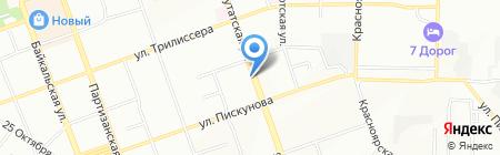 Усадьба Дорофеева на карте Иркутска