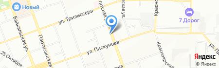 Калинка на карте Иркутска