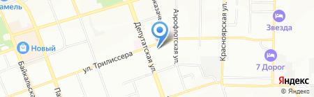 Иркутский научно-исследовательский противочумный институт Сибири и Дальнего Востока на карте Иркутска