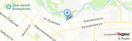 Дизайн Пласт на карте Иркутска