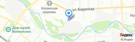 Эльф на карте Иркутска