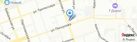 Служба по контролю и надзору в сфере образования Иркутской области на карте Иркутска