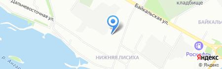 Стрекоzа на карте Иркутска