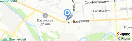 Речка на карте Иркутска