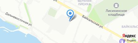 Автогаражный кооператив №15а на карте Иркутска