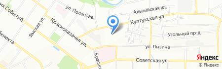 Теставто на карте Иркутска