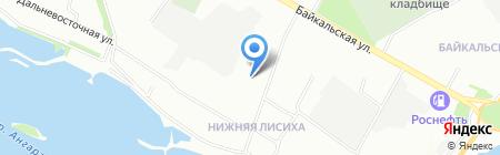 Давинти на карте Иркутска