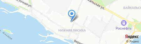 Северные ветры на карте Иркутска