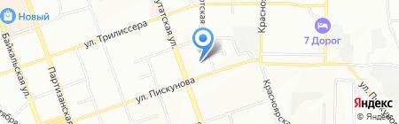 Магистр на карте Иркутска