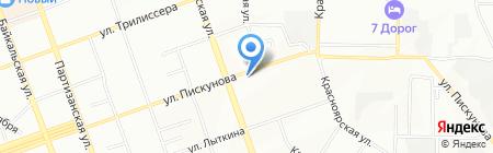 Горный исток на карте Иркутска