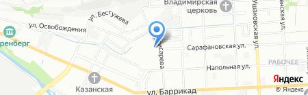 Производственный цех на карте Иркутска