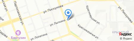 Джин на карте Иркутска