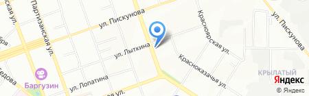 Янтарь на карте Иркутска