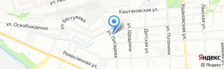 Система на карте Иркутска