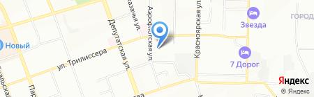Удачный сад на карте Иркутска