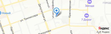 Автохозяйство санитарного автомобильного транспорта г. Иркутска на карте Иркутска
