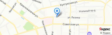 Кардинал на карте Иркутска