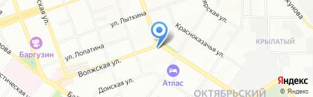 Сибирская недвижимость на карте Иркутска