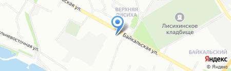 Махаон на карте Иркутска