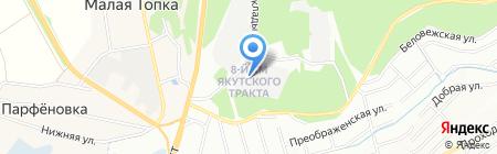 Кедр+ на карте Иркутска