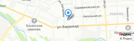 МегаСклад на Баррикад на карте Иркутска